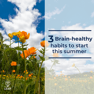 3 Brain-healthy habits to start this summer