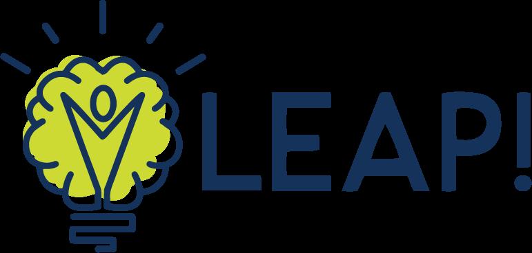 LEAP! logo, light bulb